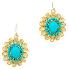 Pretty Dangling Turquoise Earrings