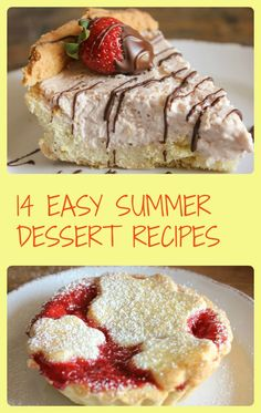 Quick and easy summer dessert recipes. Yummy summer recipes that are perfect for kids, when company is coming for dinner or planning a party /anitalianinmykitchen.com
