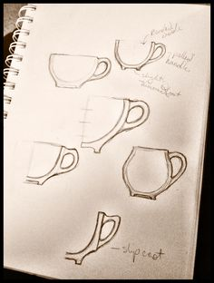 Ok....  This is my current project.  Tea cups/mugs to be thrown and have pulled handles.