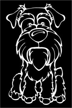 Angry Squirrel Studio - Schnauzer Decal Dog