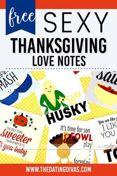 Funny sexy Thanksgiving love notes for him Love Notes For Him, Funny Sexy, Baby Play, You And I, Free Printables, Thanksgiving, Activities, Crafts, You And Me