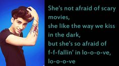 One Direction - She's Not Afraid HD (lyrics video + download)