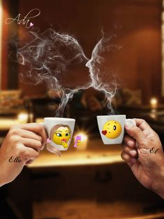 Good morning it's coffee time ~. Good Morning Coffee Gif, Good Morning Messages, Good Morning Good Night, Good Morning Images, Good Morning Quotes, Romantic Gif, Romantic Pictures, Image Facebook, Tea Gif