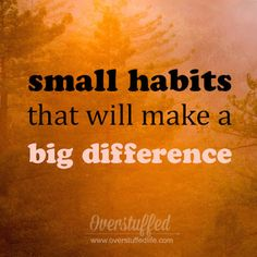 Join the challenge! Each day this month, implement a small habit that has the potential to make a big difference in your life!