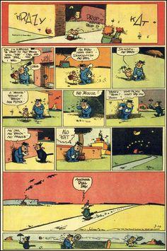 Krazy Kat  George Herrimann's Krazy Kat http://en.wikipedia.org/wiki/George_Herriman