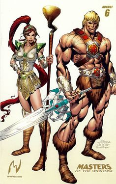 Masters of the Universe He-Man & Teela Short Hair Old School Cartoons, Old Cartoons, Classic Cartoons, Comic Book Characters, Comic Character, Comic Books Art, Fictional Characters, Teela He Man, Comic Anime