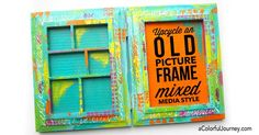 Video sharing how to upcycle an old picture frame mixed media style