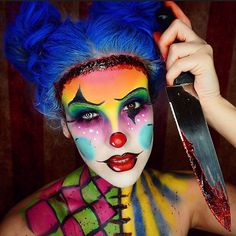 Clever spin on clown makeup . @nicoleguerriero Instagram photos | Websta
