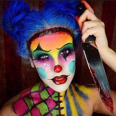 Clever spin on clown makeup .  @nicoleguerriero Instagram photos | Websta