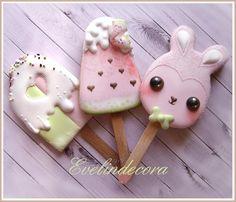 Kawaii icecream cookies - biscotti decorati - Evelindecora - ghiaccia reale