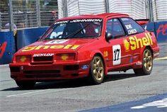 Dick Johnson Racing Sierra RS500 Aussie Muscle Cars, V8 Supercars, Ford Sierra, Australian Cars, Racing Team, Car Ford, Rally Car, Race Day, Touring