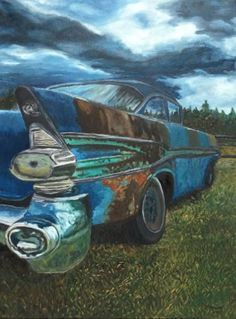 "Saatchi Art Artist Carmen Aurariu; Painting, ""Old Abandoned Car"" #art"
