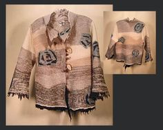 Silk and felted wool jackets available from The Island Gallery  Maggy Pavlou: fiber artist