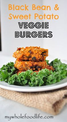 GF/V (with the flax seed egg) - Black Bean & Sweet Potato burgers.  I would need to omit the nutritional yeast, but these sound interesting