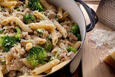 Creamy Chicken Sausage and Broccoli Pasta