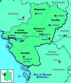 map of Western Loire