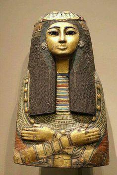 Sarcophagus of Amun priestess Takait. (detail) Dynasty 19.