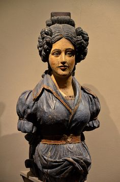 """Woman with a comb"" figurehead at Mystic Seaport, Connecticut"