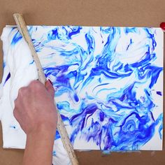 Create beautiful marbled prints on paper with shaving cream and coloured ink!                         Gloucestershire Resource Centre http://www.grcltd.org/scrapstore/