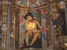 CRISTO DE LA PACIENCIA, retablo barroco de la Basílica del Pilar de la Recoleta, Buenos Aires, siglo XVIII.