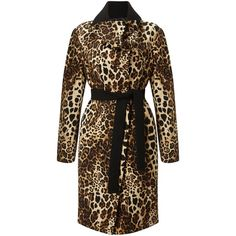 James Lakeland Leopard Coat ($185) ❤ liked on Polyvore featuring outerwear, coats, sale women coats & jackets, leopard coats, brown duster coat, duster coat, leopard print coat and brown coat