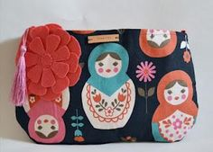 matryoshka clutch bag
