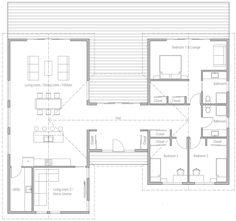 House Plan Modern House Plan to Modern Family. Barn Homes Floor Plans, Home Design Floor Plans, Barn House Plans, New House Plans, Modern House Plans, House Floor Plans, U Shaped House Plans, U Shaped Houses, Simple Floor Plans