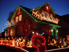 Of all the home businesses out there, Christmas Light Installation businesses may be one of the best kept secrets around. Most people think of hanging Christmas lights as a low paying, low potential, grunt work job, and therefore they Best Outdoor Christmas Decorations, Exterior Christmas Lights, Christmas Decorations Clearance, Christmas Lights Outside, Christmas House Lights, Hanging Christmas Lights, Christmas Light Displays, Christmas Decorations For The Home, Xmas Lights