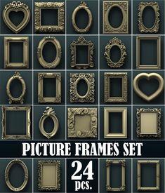 Photo frames. 3d STL Model Relief for CNC Router Aspire Artcam #ContemporaryArt