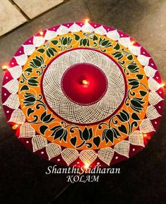 30 Creative Kolam Rangoli Designs for this Festival season Best Rangoli Design, Indian Rangoli Designs, Simple Rangoli Designs Images, Rangoli Designs Latest, Rangoli Designs Flower, Free Hand Rangoli Design, Rangoli Border Designs, Latest Rangoli, Small Rangoli Design
