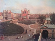 Whitehall Palace & the walled Privy Garden #London by Giovanni Antonio Canal #Canaletto in London 1746-1755 (PrivateCollection) OldLondonNow (@oldlondonnow)   Twitter