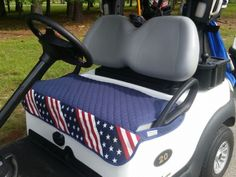 Check out our Navy Quilt w/ Stars & Stripes GolfChic Bags Ladies Golf Cart Seat Covers! Find the best golf gear and accessories at Lori's Golf Shoppe. Click through now to see this Seat Covers!