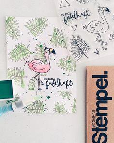 Am Freitag gibt's vier neue Moment-Stempel im #PAPIERPROJEKT Shop  Planermotive Neue Buchstaben und diese Platte mit Tropen Feeling