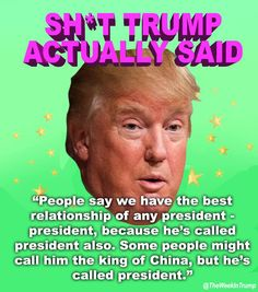 Shit Trump actually said. Trump Quotes, Stupid Quotes, Evil Empire, Political Quotes, Stupid People, Stupid Comments, Politics, Sayings, Words