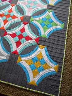 Urban Nine Patch Quilt by Sew Kind of Wonderful, via Flickr