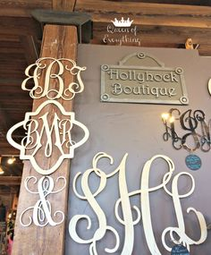 Hollyhock Boutique Monograms | Spice Village | Queen of Everything