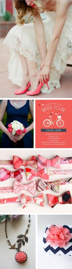 Coral is this years hot summer color for fashion, decor and weddings. Paired with navy, it is one of my favorite combo's. Navy is such a bold, rich neutral for a wedding and the coral adds a …