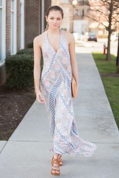 Scarf printed halter dresses are for all you boho baes out there!