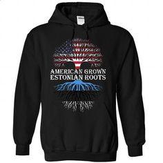 American Grown - Estonian Roots - #oversized sweater #pink sweater. GET YOURS => https://www.sunfrog.com/States/American-Grown--Estonian-Roots-9746-Black-28527653-Hoodie.html?68278