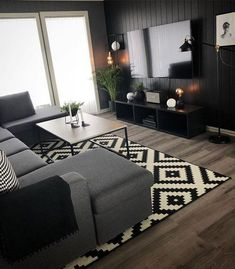 Cozy Small Living Room Decor Ideas For Your Apartment - Savvy Ways About Things Can Teach. Cozy Small Living Room Decor Ideas For Your Apartment - Savvy Ways About Things Can Teach. Cozy Living Rooms, Living Room Grey, Living Room Interior, Home Living Room, Living Room Designs, Black White And Grey Living Room, Dark Grey, Kitchen Living, Living Room Decor Ideas Grey