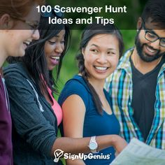 Plan a fun team-building hunt with creative ideas for adults, teens, businesses, schools, friends and more. Summer Camp Games, Camping Games, Youth Group Games, Family Games, Youth Groups, Team Building Games, Adult Party Games, Games For Teens, Activity Games