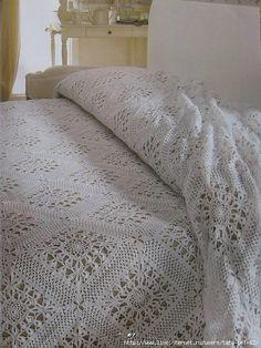 Sunflowers crochet bedspread