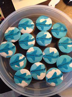 Vliegtuig cupcakes