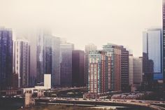 Download this free photo here www.picmelon.com #freestockphoto #freephoto #freebie /// Skyscrapers in Fog | picmelon