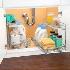 lynk professional 11 5 x 21 slide out under sink cabinet organizer pull out two tier sliding shelf Sliding Shelves, Sink Organizer, Under Kitchen Sinks, Sink Storage, Sink Basket, Sink Cabinet, Under Sink Drawer, Kitchen Sink Organization, Under Kitchen Sink Organization