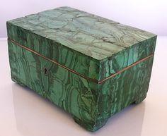 antique malachite box