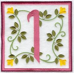 Machine Embroidery Designs at Embroidery Library! - Friendship Square Alphabet