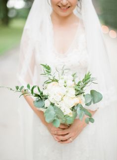 Romantic pastels bride bouquet