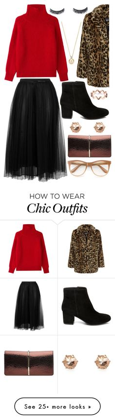 """""""rich chic"""" by mersunflower on Polyvore featuring Valentino, New Look, Steve Madden, River Island, Vanessa Bruno, Nina Ricci, Wildfox, Winter, longSkirt and fauxfur"""