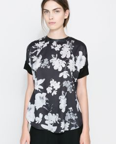 Black grounded floral